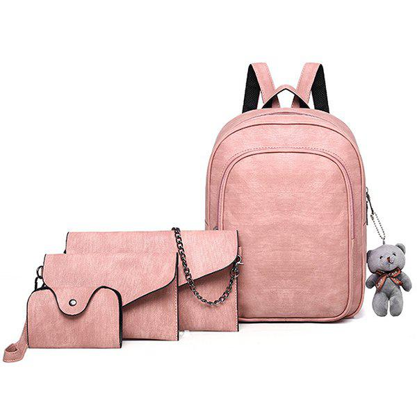 Affordable Casual Fashion Solid Color Atmosphere Elegant And Comfortable Youth Tide Ladies Backpack Travel Package