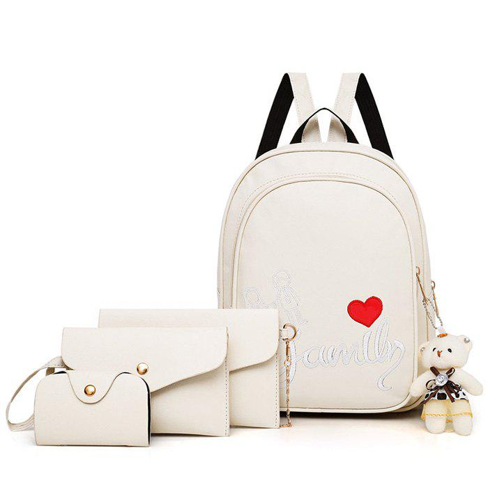 Hot Pure Fashion Letter Embroidery Youth Trend Wild Comfortable Ladies Backpack Travel Package