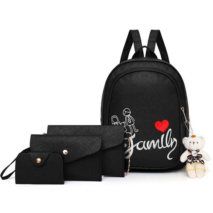 Trendy Pure Fashion Letter Embroidery Youth Trend Wild Comfortable Ladies Backpack Travel Package