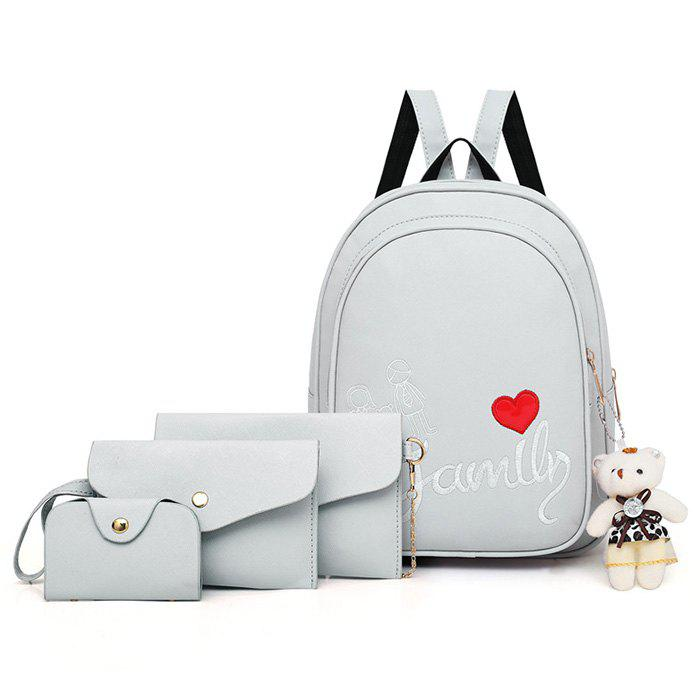 Shop Pure Fashion Letter Embroidery Youth Trend Wild Comfortable Ladies Backpack Travel Package