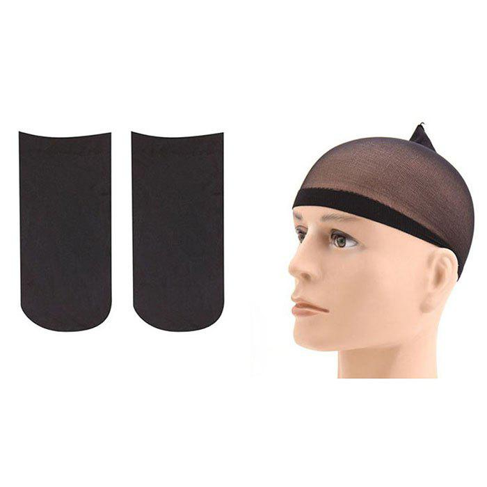 2pcs European And American Style High Elastic Stockings Wig Mesh Cap Care Wig Hair Net