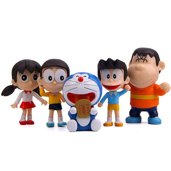 Discount Creative Cartoon Anime DIY Doll Model Decoration Ornament 5pcs