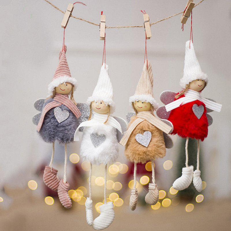 Chic Christmas Tree Beautifully Decorated Pendant Small Angel Ornaments