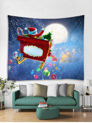 Gift Father Christmas Print Tapestry Art Decoration -