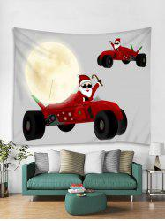 Father Christmas Car Print Tapestry Art Decoration -