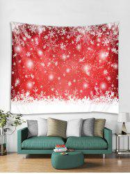 Christmas Snowflake Print Tapestry Art Decoration -