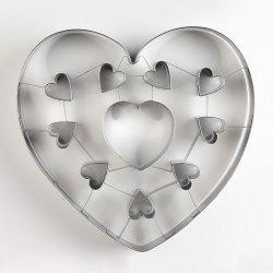 Stainless Steel Biscuit Mould Large Heart Shaped Cookie Mold DIY Baking Tool -