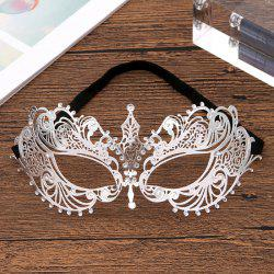 A20 Diamond-plated Half Face Ladies Princess Masquerade Show Mask -