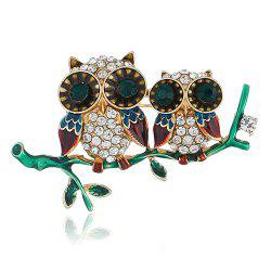 Personality Cute Owl Brooch Pin Accessories -