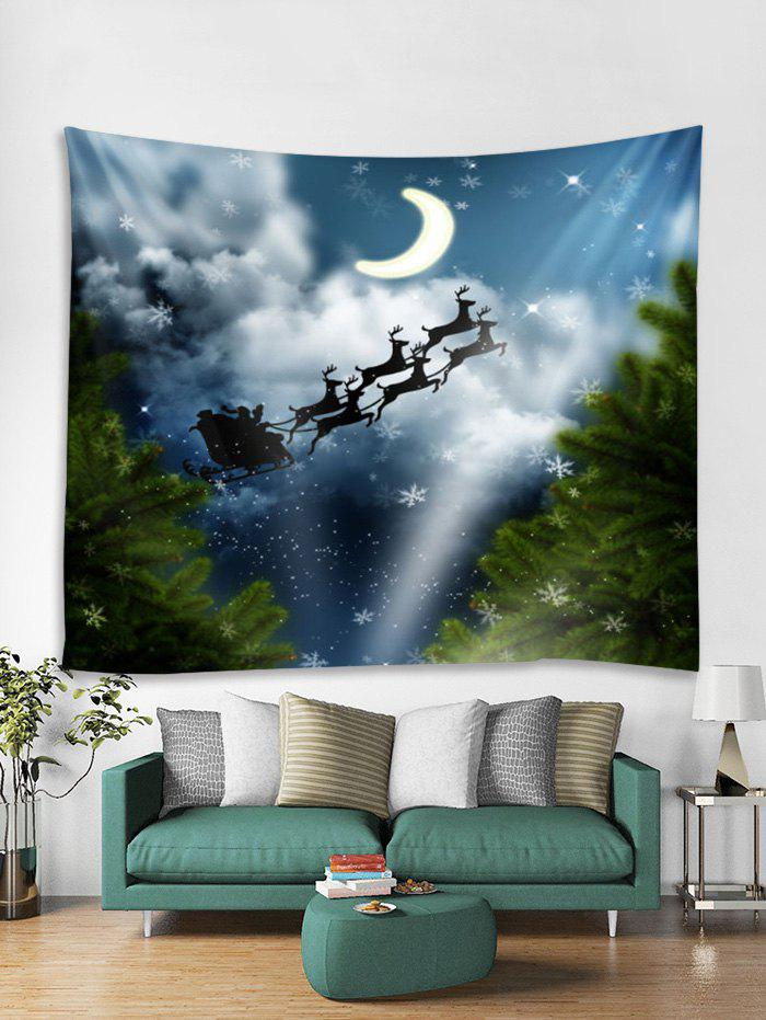 Outfits Christmas Snowflake Deer Pattern Tapestry Art Decoration