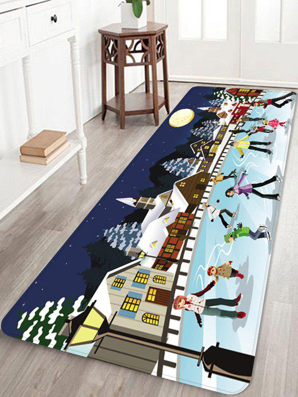 Fancy Christmas Night Printed Non-slip Area Rug