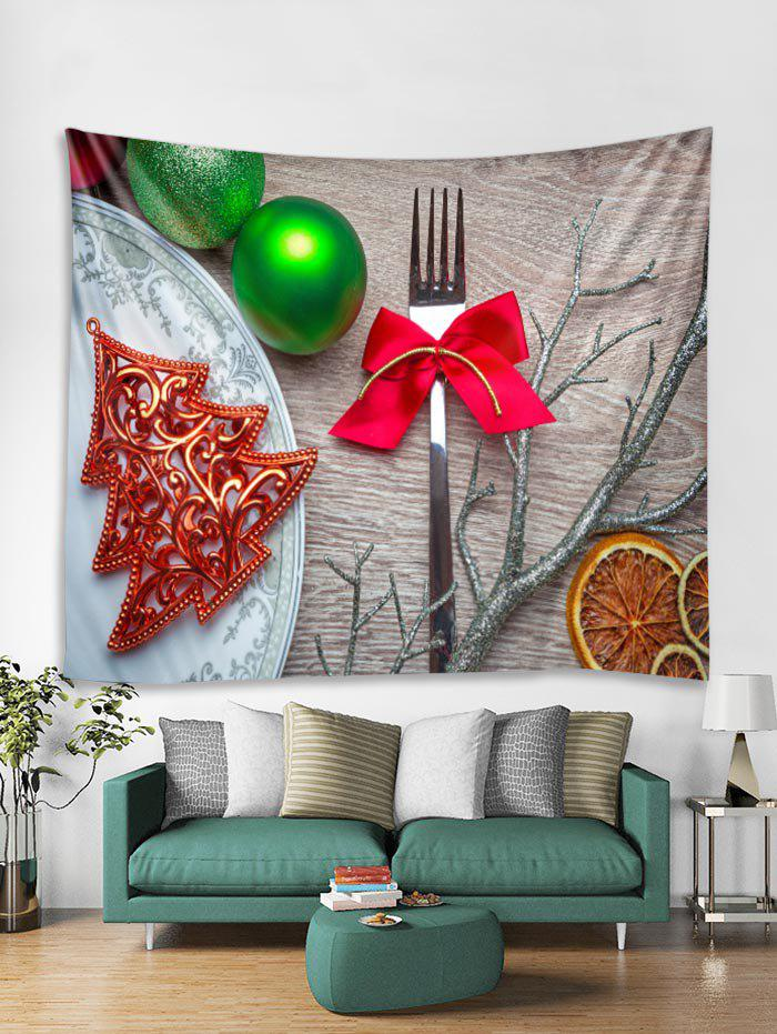 Affordable Christmas Tableware Print Tapestry Art Decoration