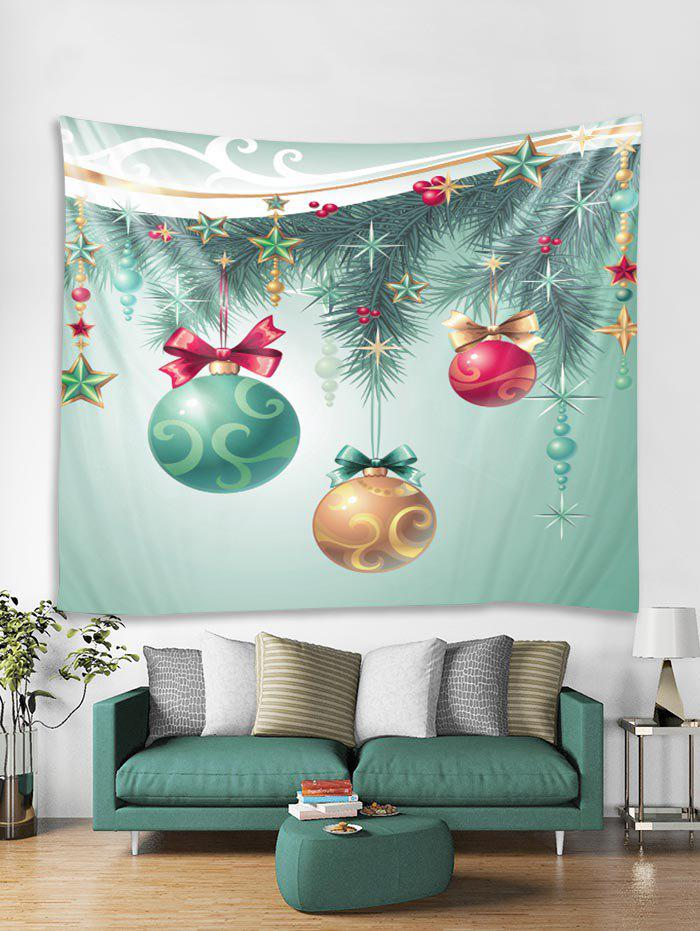 Discount Christmas Star Ball Print Tapestry Art Decoration