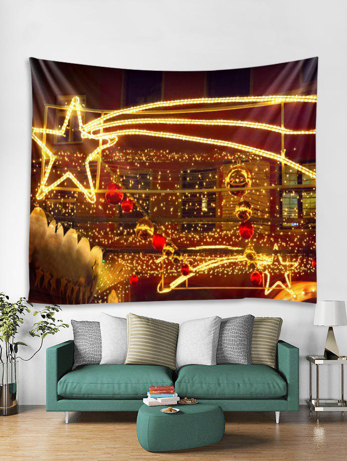 Outfits Christmas Light Star Print Tapestry Art Decoration
