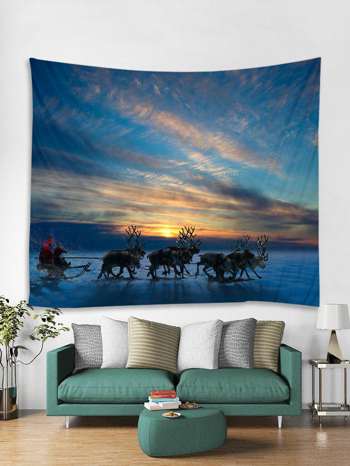 Shop Christmas Deer Sleigh Print Tapestry Art Decoration