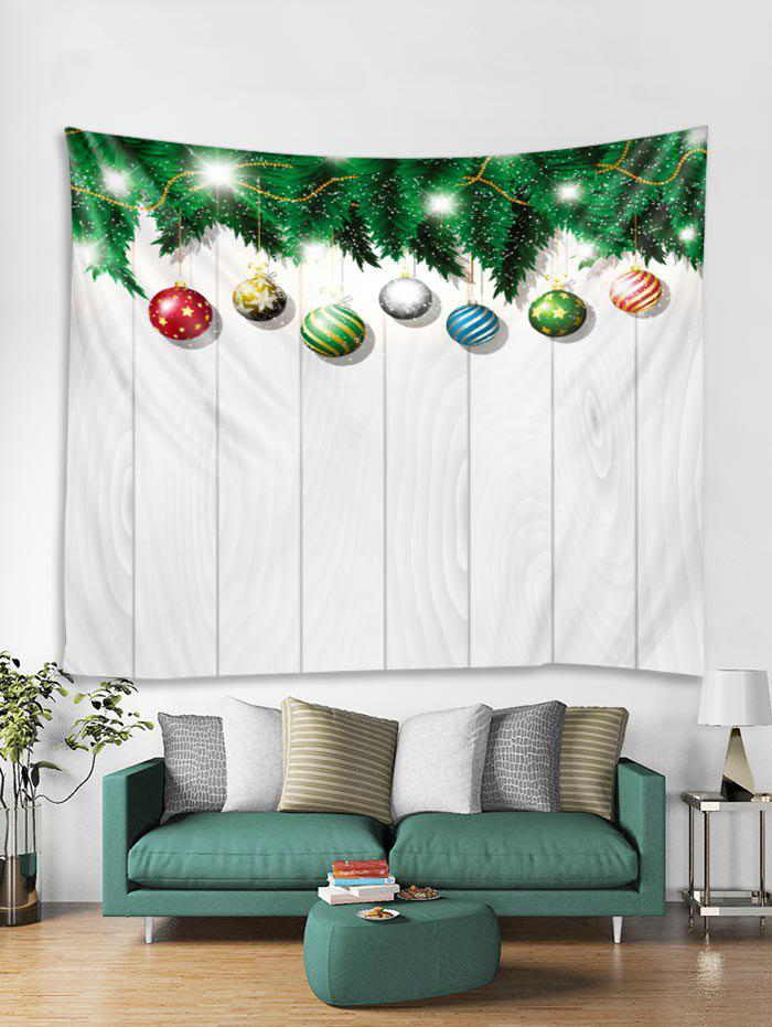 Unique 3D Christmas Ball Wooden Print Tapestry Art Decoration