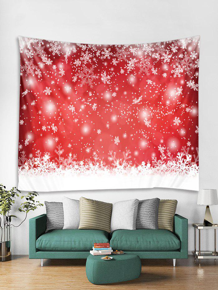 Discount Christmas Snowflake Print Tapestry Art Decoration