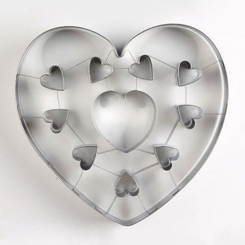 Buy Stainless Steel Biscuit Mould Large Heart Shaped Cookie Mold DIY Baking Tool