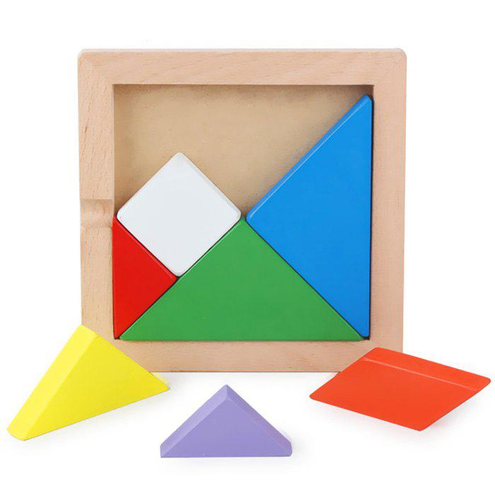 Best Wooden Jigsaw Tangram Puzzle Educational Toy Set for Kids