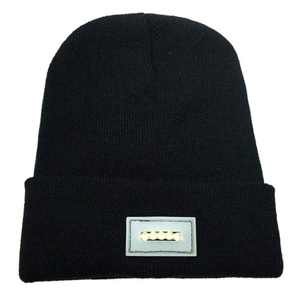 Cheap Outdoor Mountaineering Night LED Light Warm Lighting Knit Hat