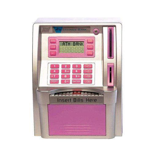 Chic Personal ATM Cash Coin Piggy Bank Machine Toy