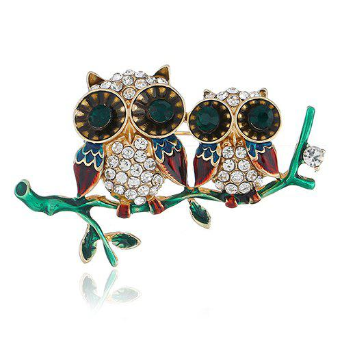 Personality Cute Owl Brooch Pin Accessories