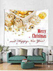 Merry Christmas Happy New Year Print Tapestry Art Decoration -