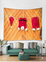 Wooden Christmas Clothing Print Tapestry Art Decoration -