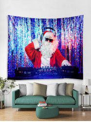 DJ Father Christmas Print Tapestry Art Decoration -