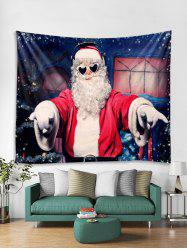 Music Father Christmas Print Tapestry Art Decoration -