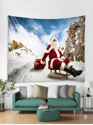 Father Christmas Tapestry Art Decoration -