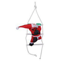 ZZLJ7383 Red Sling Polyester Santa Claus Climbing Rope Ladder Ornament for Christmas Decoration -