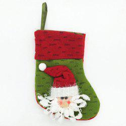 Cute Green Old Man Christmas Sock for Holiday Ornament -