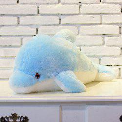 Colorful Luminous Dolphin Plush Doll Toy Stuffed Flashing Cushion Pillow Gift -