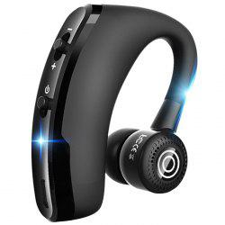 V9 Bluetooth Headset Business Hanging Wireless Stereo Earphone 1pc -