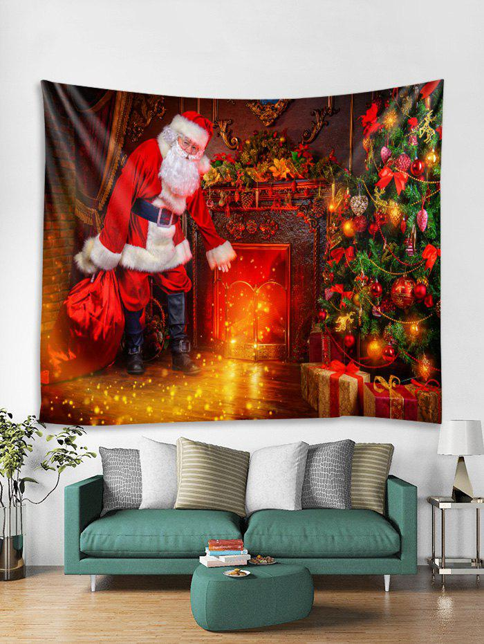 Unique Father Christmas 3D Print Tapestry Art Decoration
