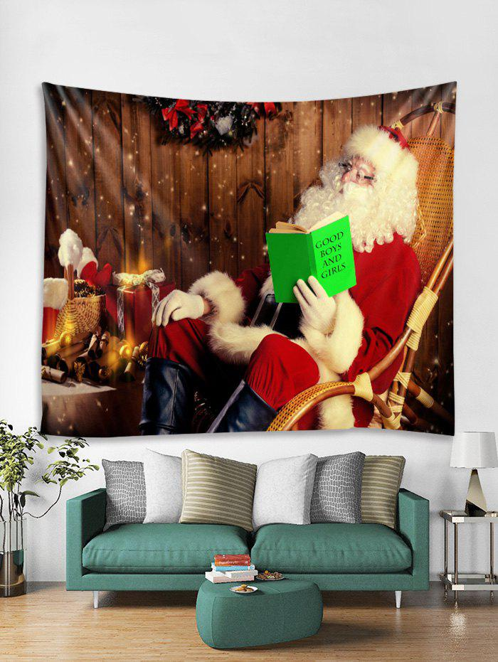 Discount Father Christmas Gift Tapestry Art Decoration