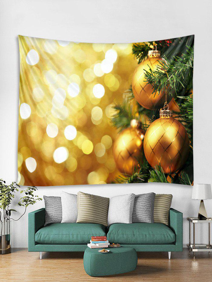 Unique Ball Christmas Print Tapestry Art Decoration