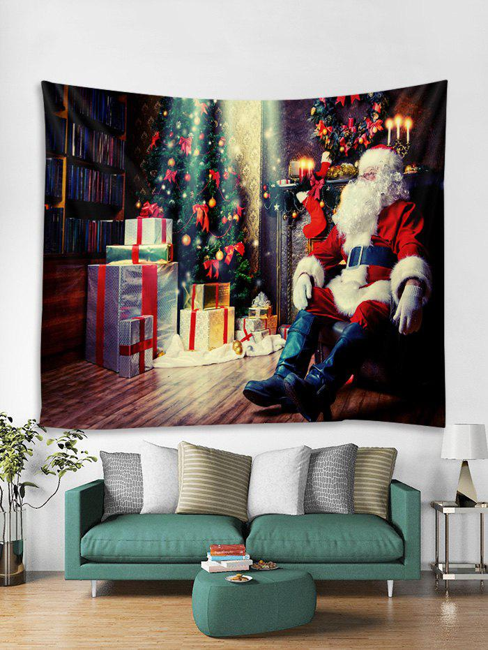 Shops Father Christmas Tree Gift Print Tapestry Art Decoration