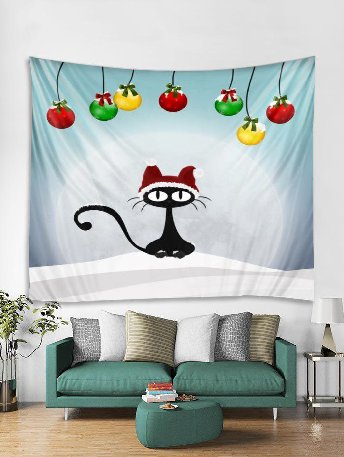 Trendy Christmas Cat Print Tapestry Art Decoration