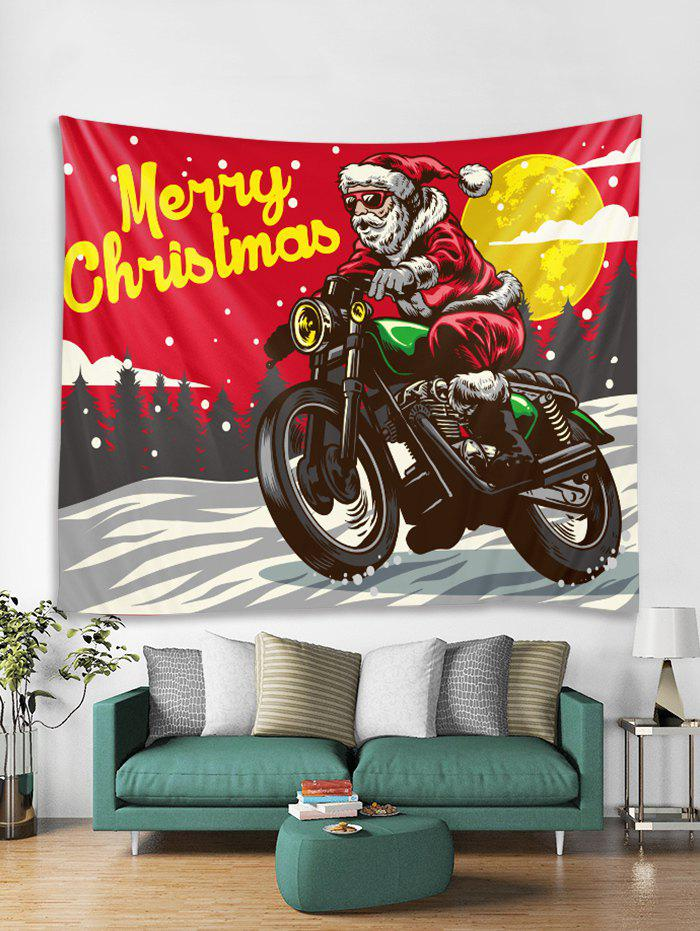 Fashion Father Christmas Motorbike Print Tapestry Art Decoration