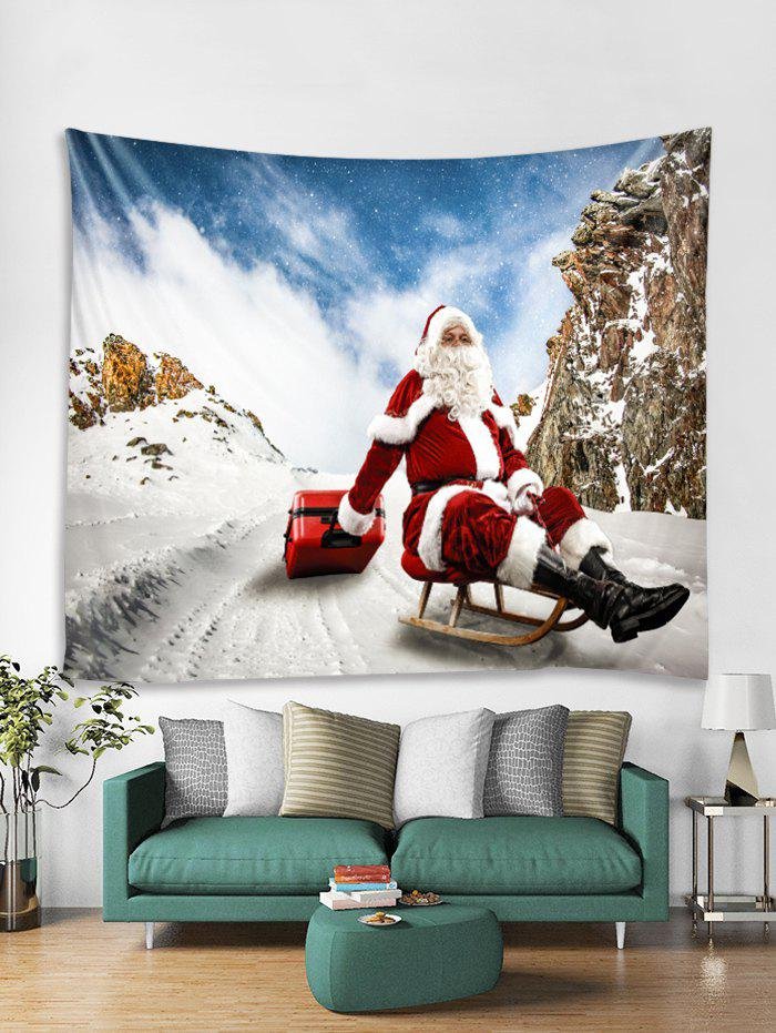 Fancy Father Christmas Tapestry Art Decoration