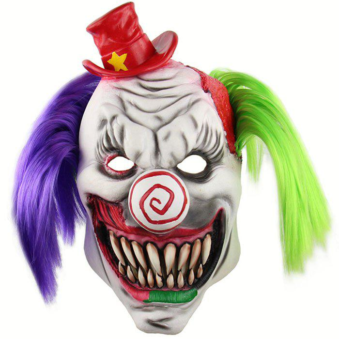 Shop Horror Red Hat Clown Headgear Halloween Scary Haunted House Room Escape Dress up Live Funny Mask