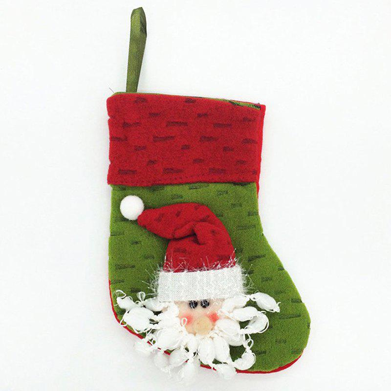Affordable Cute Green Old Man Christmas Sock for Holiday Ornament