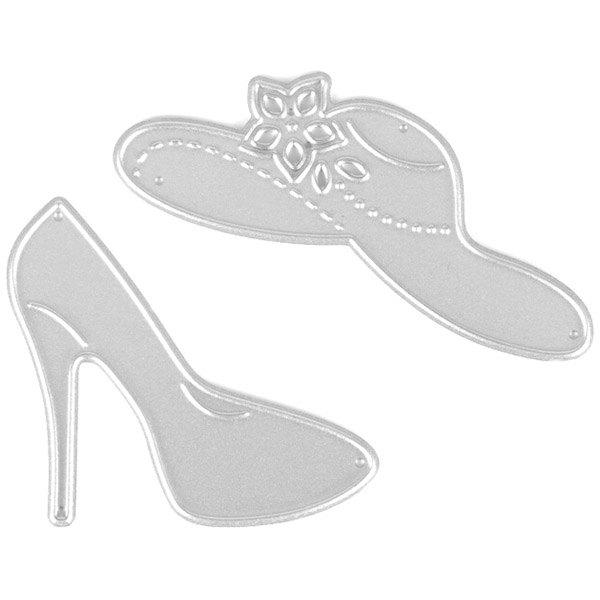 Outfit Trendy DIY High-heeled Shoes Scrapbooking Mold Cutting Die