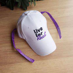 Letter Embroidery Double Streamers Baseball Cap -