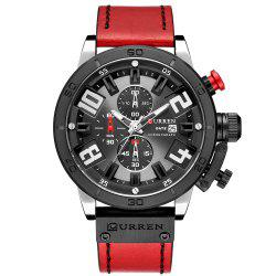 CURREN Montre Carrian Etanche Ronde -