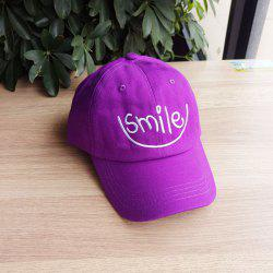 Simple Smiley Embroidered Baseball Cap -