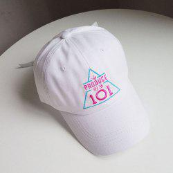 Embroidery Number Word Pattern Baseball Cap -