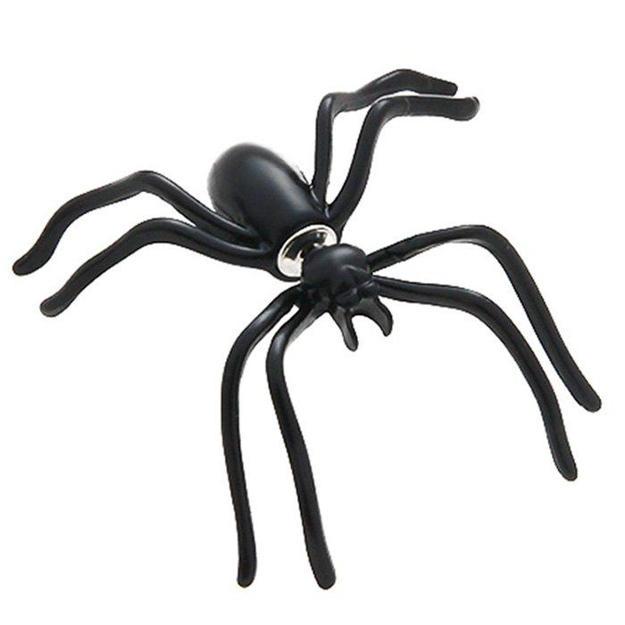 New Personality Double-sided Halloween Jewelry Black Spider Earring